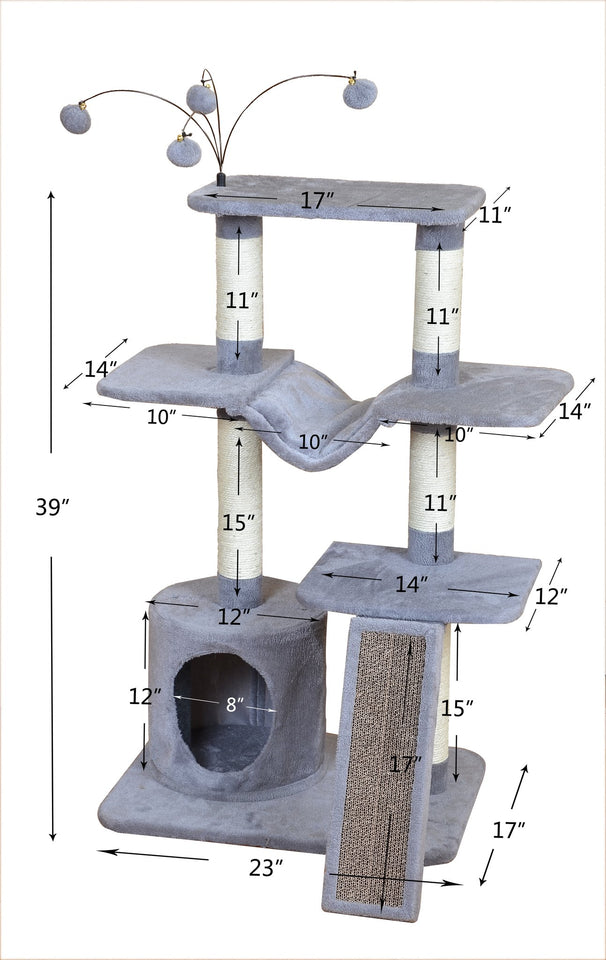 Cat Tree Scratching Toy Activity