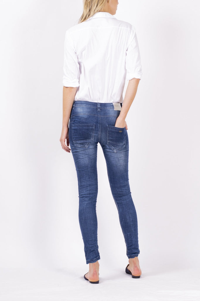 Bianco Galaxy Denim Boyfriend Jeans - Since I Found You