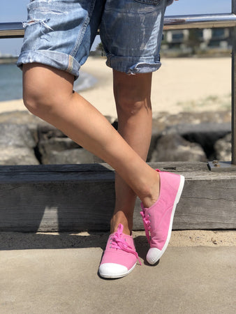 Cat Hammill Washed Pink canvas sneaker