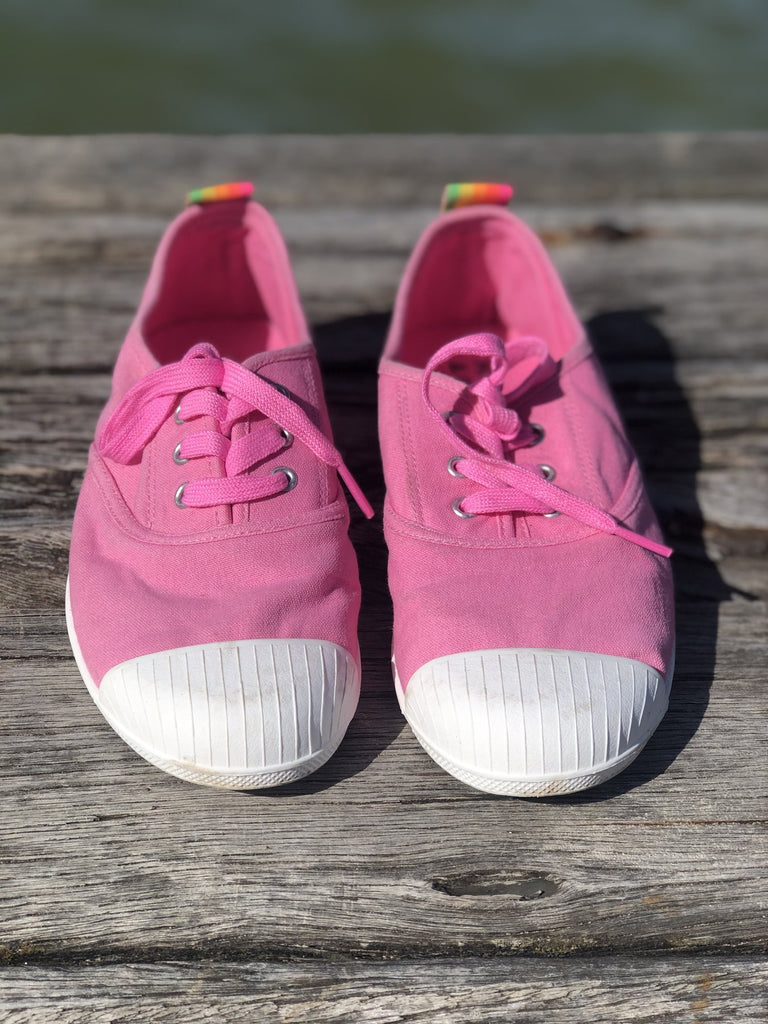 Cat Hammill Washed Pink canvas sneaker - Since I Found You