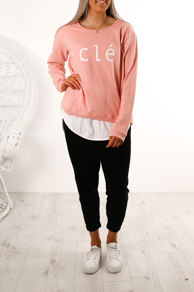 Clé the Label Logo Sweater - Since I Found You