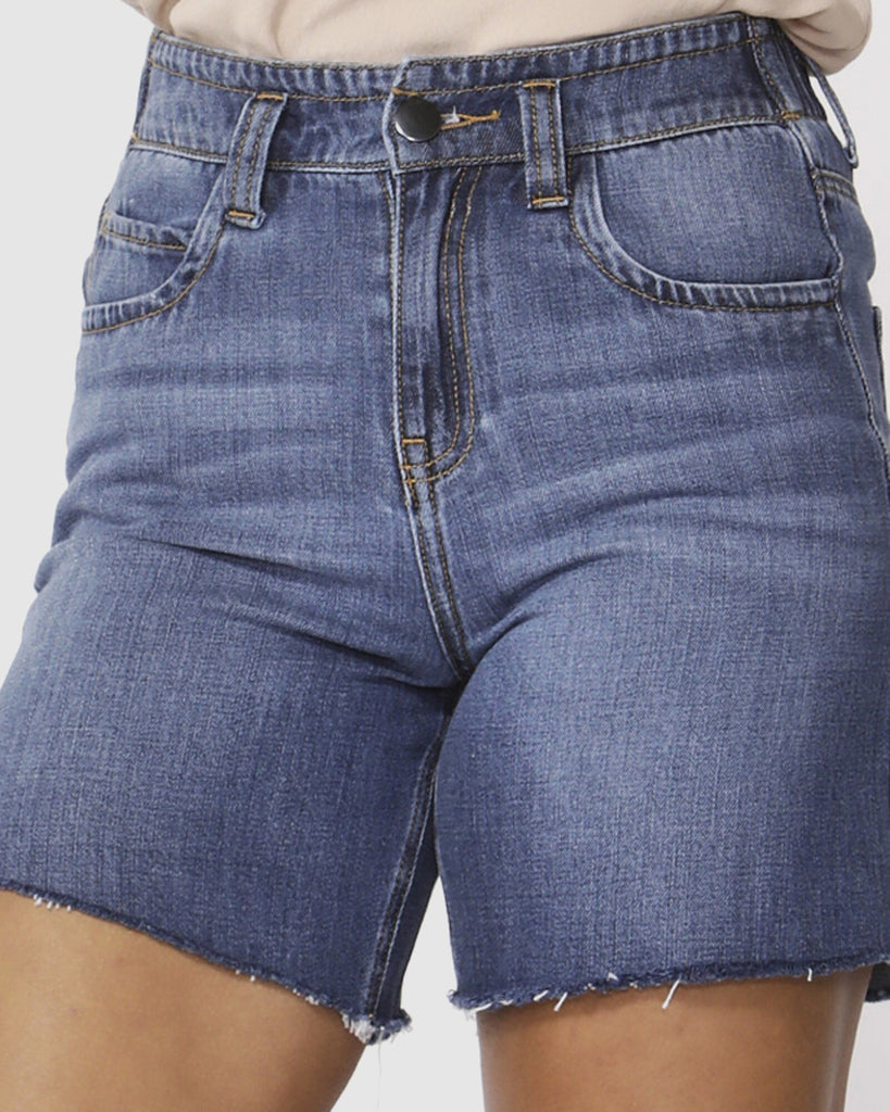 Fate & Becker Ocean Eyes Denim Shorts Manhattan Wash - Since I Found You