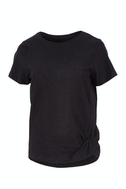 Foxwood Knot Front Tee Black - Since I Found You