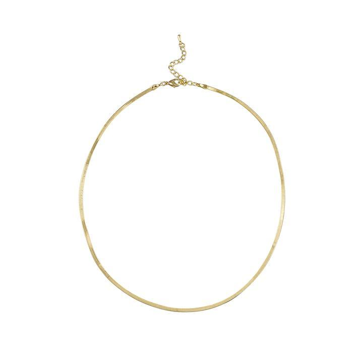 Jolie & Deen Snake Chain Necklace in Gold - Since I Found You