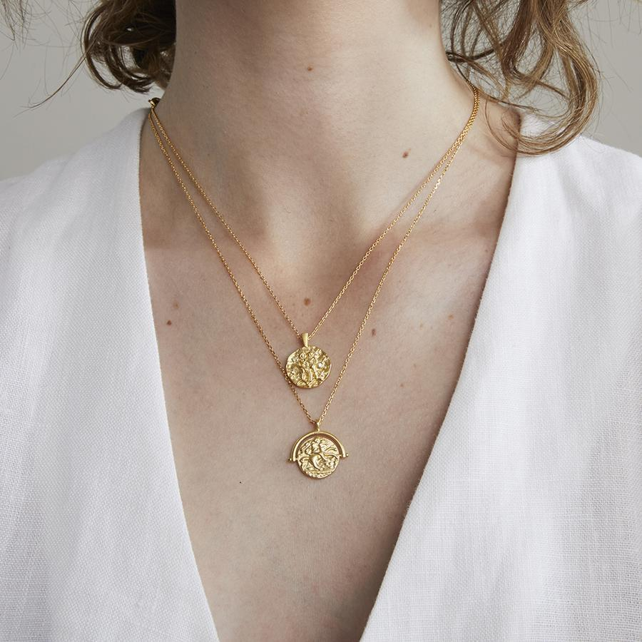 Jolie & Deen Tobie coin necklace - Since I Found You