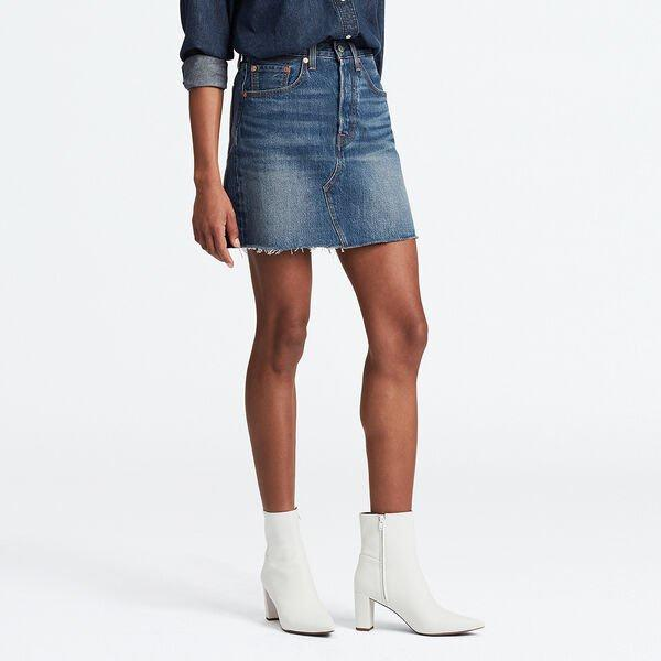 Levis High Rise Deconstructed Iconic Skirt - Since I Found You
