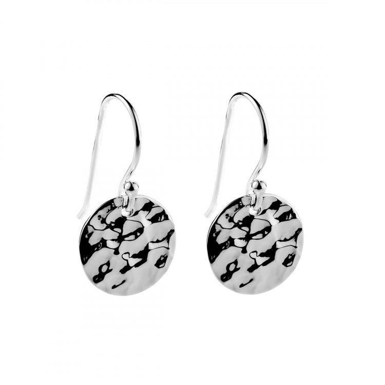 Najo Beaten Silver Disc Earring - Since I Found You