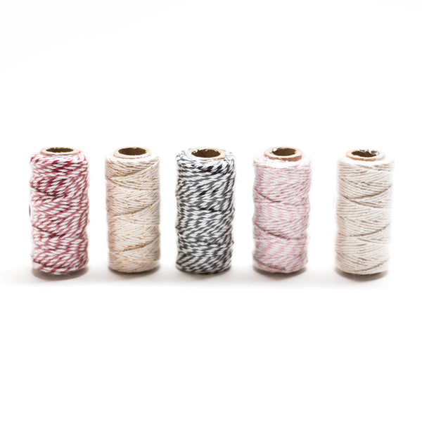 Pink & White Striped Twine