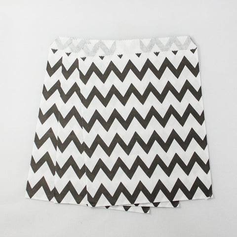 Black & White Chevron Paper Bags