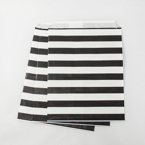 Black & White Stripe Paper Bags