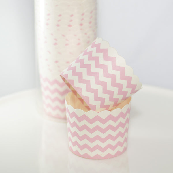 Pick Chevron Baking Cups