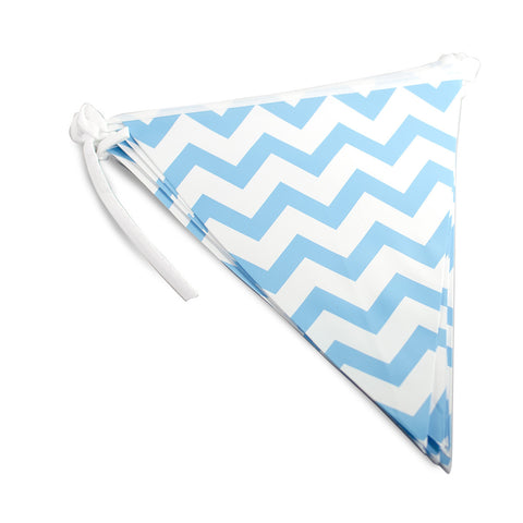 Blue Chevron Bunting