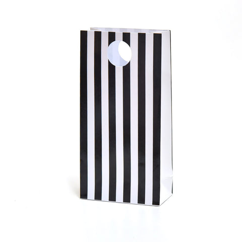 Black Stripe Party Favour Bags