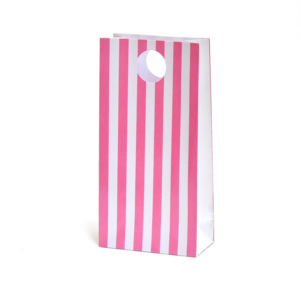 Pink Stripe Party Favour Bags