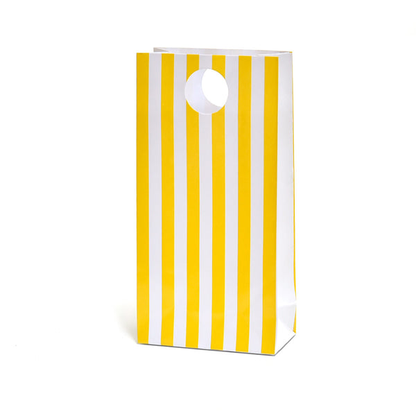 Yellow Stripe Party Favour Bags