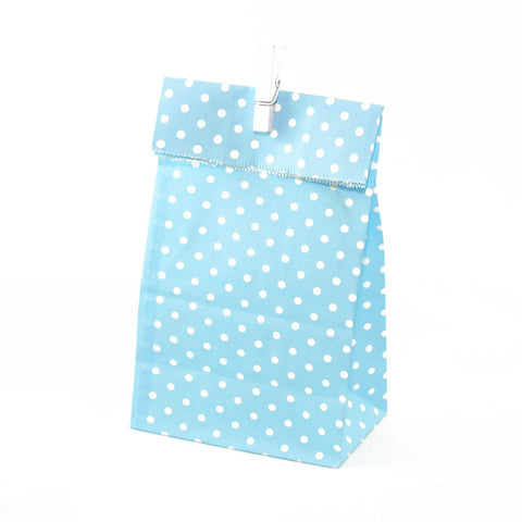 Blue Polkadot Party Favour Bags