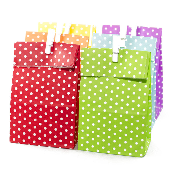 Rainbow Polkadot Party Favour Bags