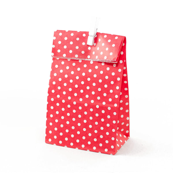 Red Polkadot Party Favour Bags