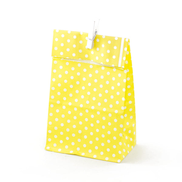 Yellow Polkadot Party Favour Bags