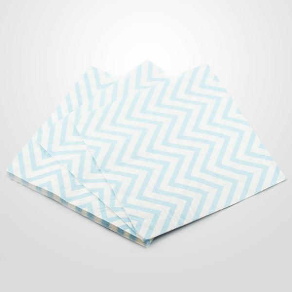 Blue Chevron Napkins
