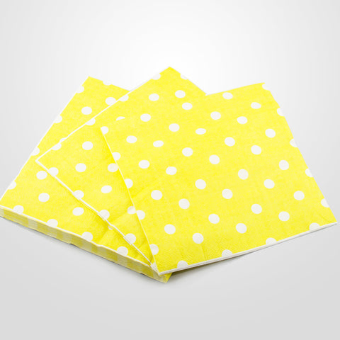 Yellow Polkadot Napkins