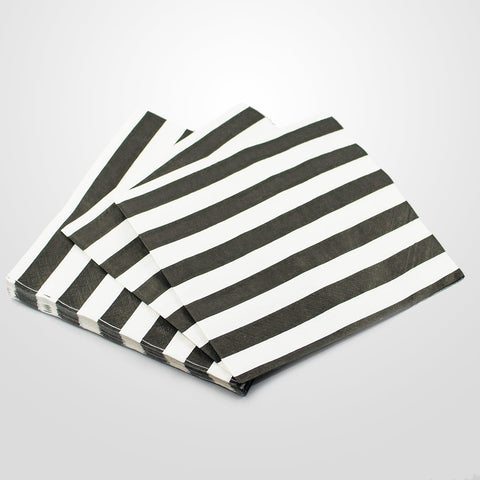 Black & White Striped Napkins