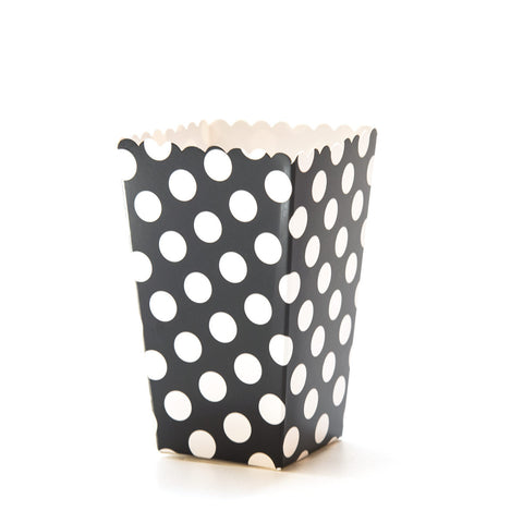 Black & White Polkadot Popcorn Boxes