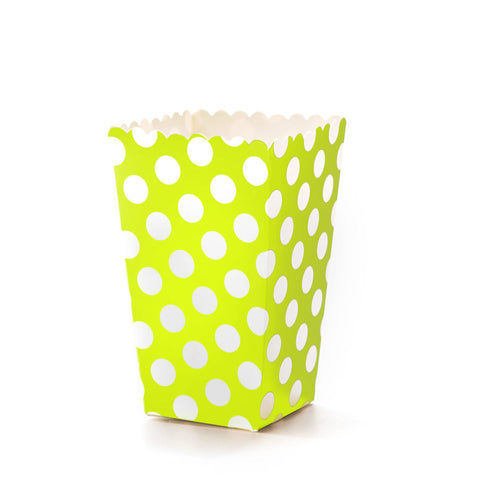 Green & White Polkadot Popcorn Boxes