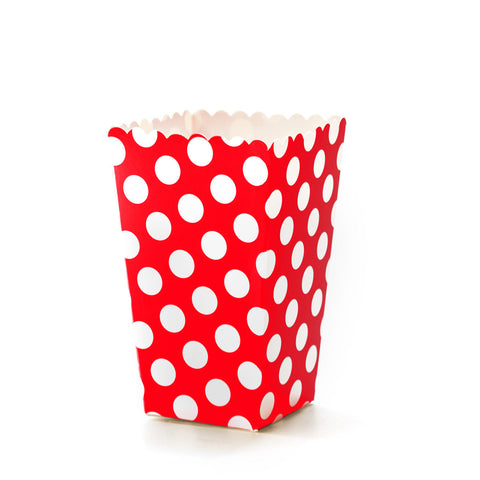 Red & White Polkadot Popcorn Boxes