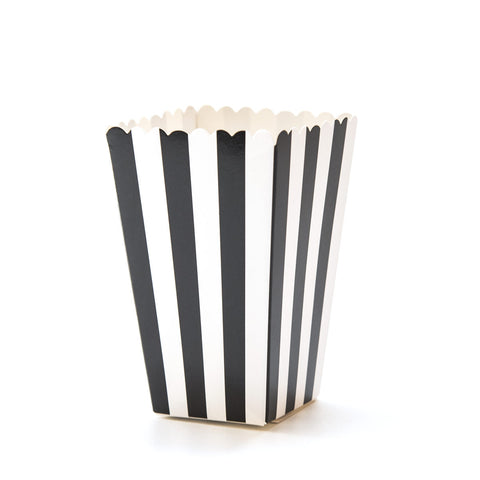 Black & White Striped Popcorn Boxes