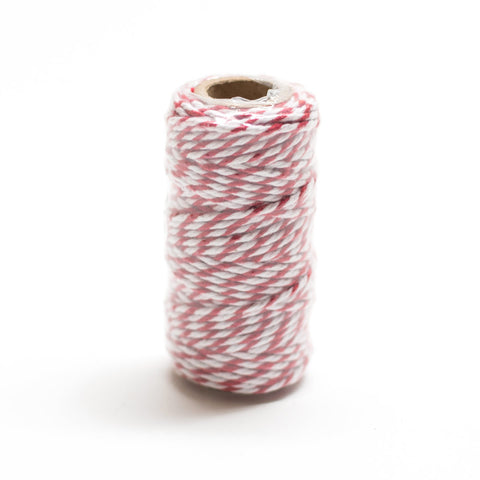 Red & White Striped Twine