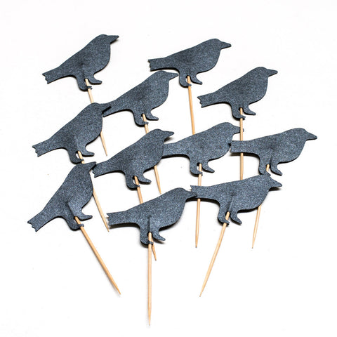 Raven Cupcake Toppers