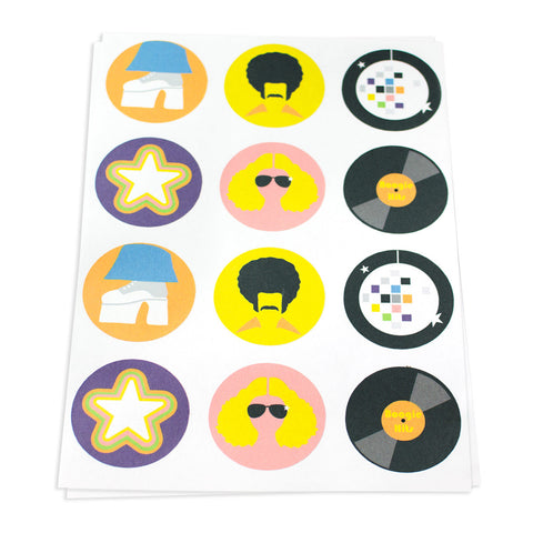 Disco Theme Stickers