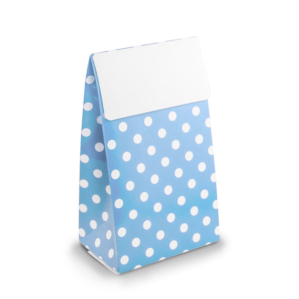 Blue Polkadot Party Favour Boxes