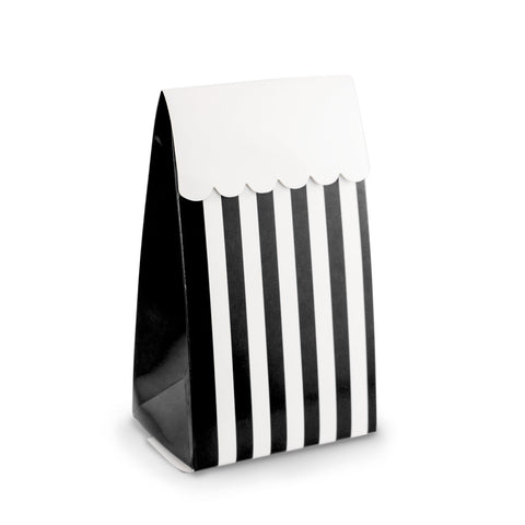 Black & White Stripe Party Favour Boxes