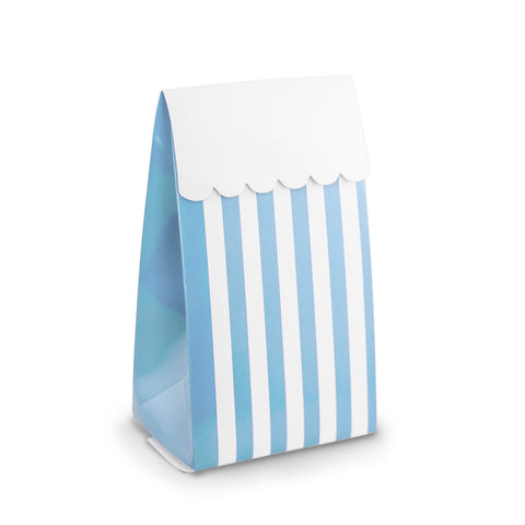 Blue Stripe Party Favour Boxes