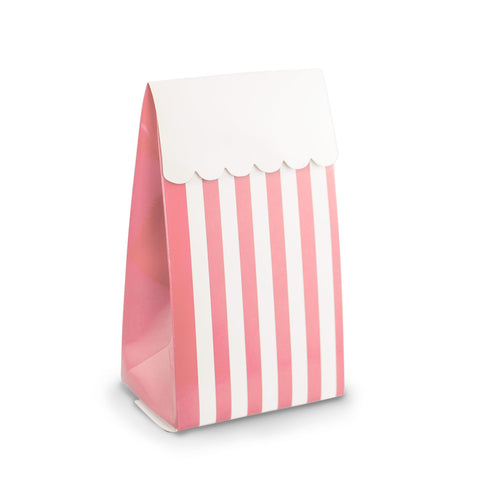 Pink Stripe Party Favour Boxes