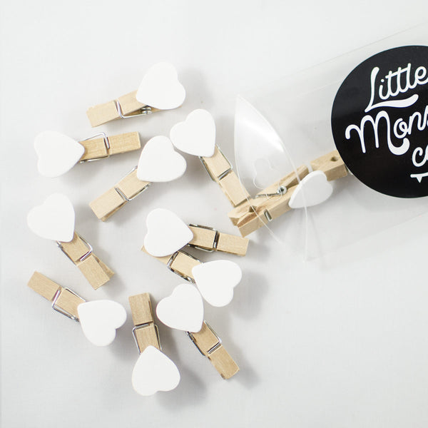 White Heart Pegs
