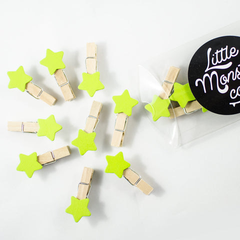 Green Star Pegs