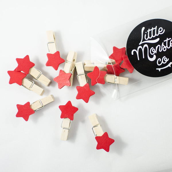 Red Star Pegs