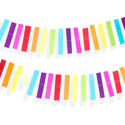 Rainbow Stripe Garland