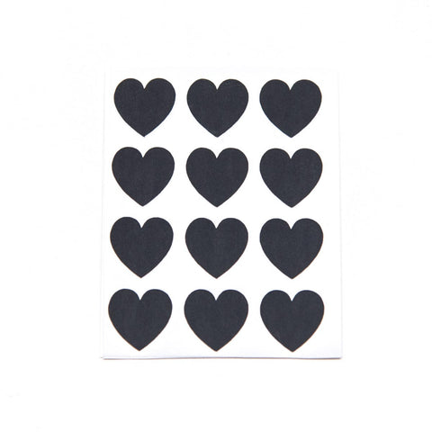Black Heart Stickers Small