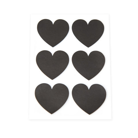 Black Heart Stickers