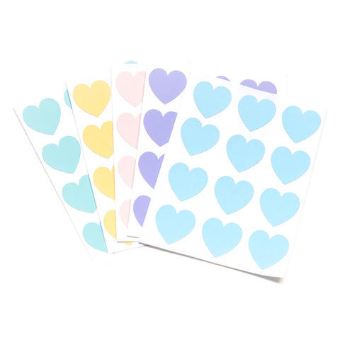 Pastel Heart Stickers