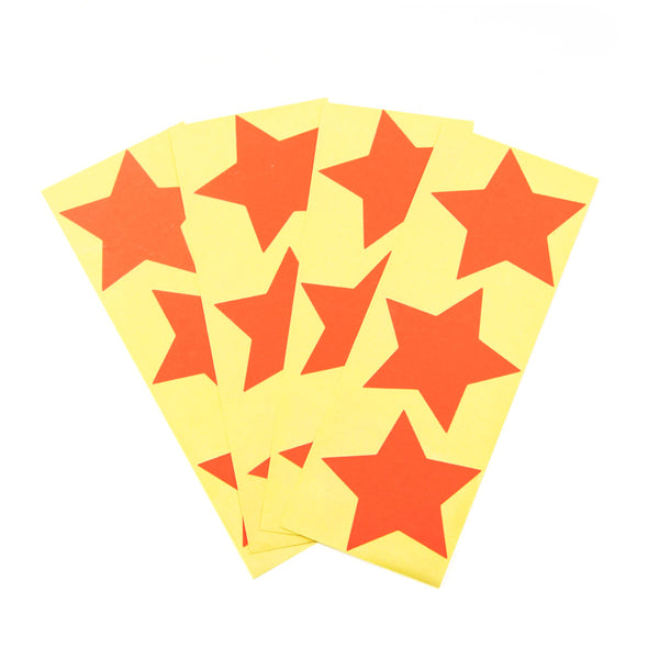 Large Neon Red Star Stickers
