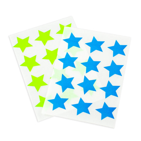 Blue & Green Star Stickers