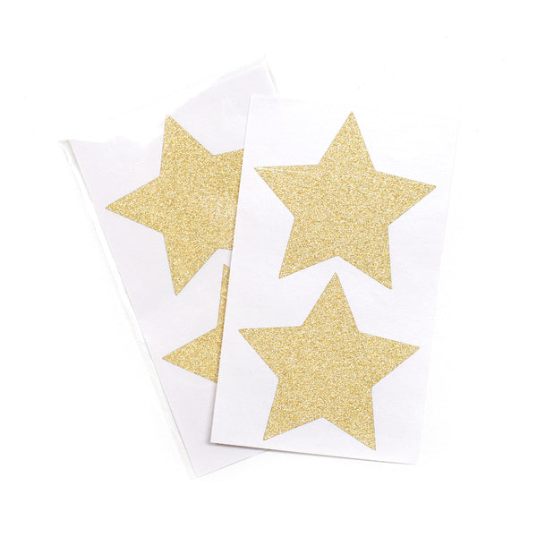 Gold Glitter Star Stickers