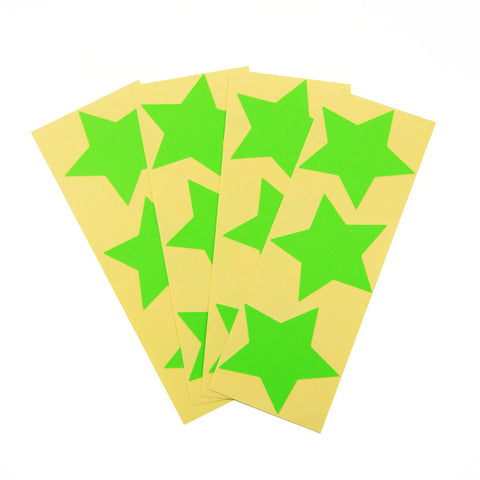 Large Neon Green Star Stickers