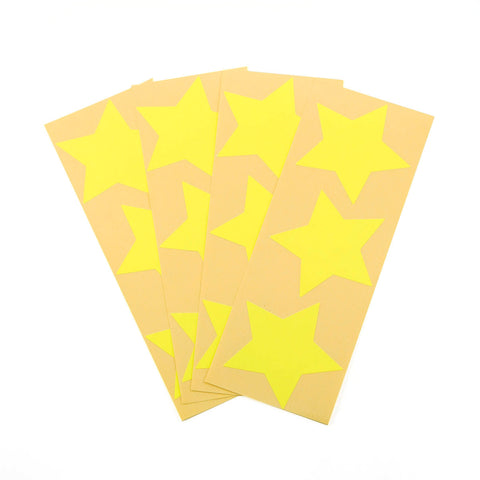Large Neon Yellow Star Stickers
