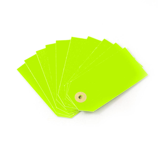 Neon Green Gift Tags